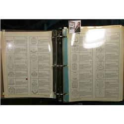 Large 3-Ring Notebook of Information on various Military Insignias.