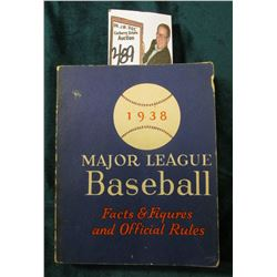 """1938 Major League Baseball Facts & Figures and Official Rules"" Book, 240 pgs."