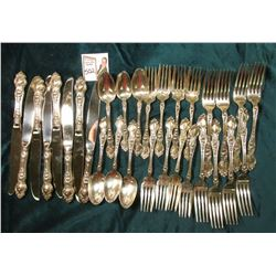 Sterling Silver Silverware Set: (8) Butter Knives, (6) Teaspoons, (8) Salad Forks, & (8) Dinner Fork