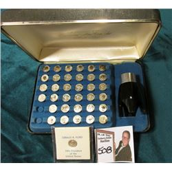 """`""""The Franklin Mint Presidential Mini Coin Set First Edition Sterling Silver"""". (35 pcs.) In original"""