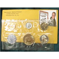 1963 U.S. Proof Set In original envelope and cellophane. The Half-Dollar is well toned.