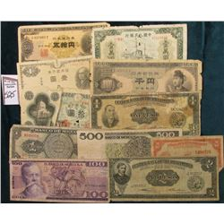 Mexico: One, One Hundred, & 500 Peso Banknotes, circulated; Philippines: 5c, One & Two Pesos Banknot
