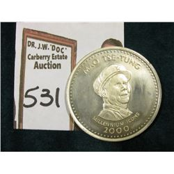2000 Mao Tse-Tung Republic of Somalia 250 Shillings Sterling Silver, Brilliant Unc.