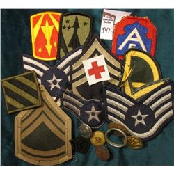 Kids Military Grab Bag 20 Different Military Cloth Patches, etc.