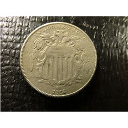 "Feb. 17th, 1866 ""First National Bank of Morrison"" (Oklahoma) & 1866 With Rays U.S. Shield Nickel, Fi"