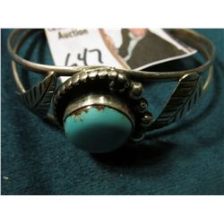 Navajo Silver & Turquoise Cuff Bracelet