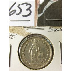 1882B 1/2 Franc Silver Switzerland Better Date BU Catalogs @ $635
