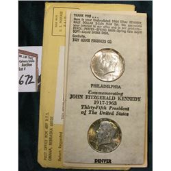 "1964 P & D Kennedy Half-Dollar Set in original  ""Tidy House Products Co."" Advertising holder."