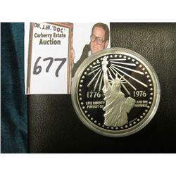 1776-1976 American Revolution Bicentennial Commemorative Proof Sterling Silver Medalion in original