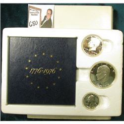 1776-1976 S Three-Piece U.S. Silver Proof Set. Original as issued.