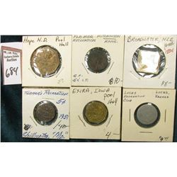 "(6) Different Good For Tokens including: ""Chilicothe, Mo."", ""Lucas, Ks."", ""Hope, Ne."", ""Hutchinson,"