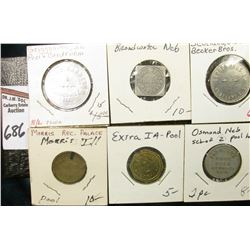 "(6) Different Good For Tokens including: ""Morris, Ill."", ""Exira, Ia."", ""Osmond, Ne."", ""Griggsville,"