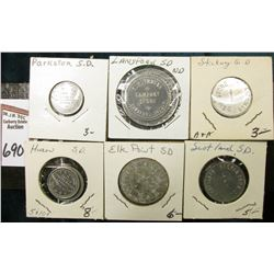 "(8) Different Good For Tokens including: ""Parkston, S.D."", ""Lansford, S.D."", ""Stickey, S.D."", ""Huron"