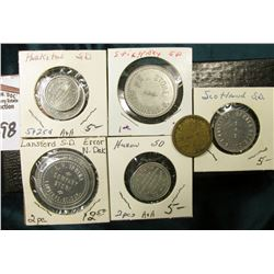 "(9) Different Good For Tokens including: ""Parkston, S.D."", ""Lansford, S.D."", ""Stickey, S.D."", ""Huron"