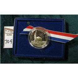 1986 S U.S. Statue of Liberty Proof Commemorative Half Dollar in original government issued box.