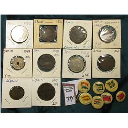 (10) Spanish Coins dating back to 1815, which 'Doc' had valued at over $60.00; & (7) Foreign flag de