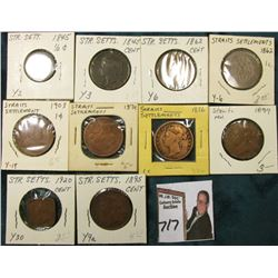 (10) Straits Settlement Coins dating back to 1845, which 'Doc' had valued at over $40.00