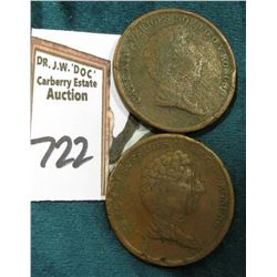 1835 & 1836 Sweden Two Skilling. CR133.