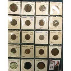 Collection of Sweden: 1858/7, 61, (3) 79, 92, (2) 99, 1900, 01, 16, 19, 30, 36, & 39 Two Ore; 1933,