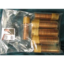 (10) 1957 or 58 Canada Maple Leaf Cent Rolls, BU in plastic tubes, I haven't opened the rolls, but t