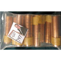 (10) 1960 Canada Maple Leaf Cent Rolls, BU in plastic tubes, I haven't opened the rolls, but they ma