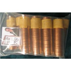 (10) 1958 Canada Maple Leaf Cent Rolls, BU in plastic tubes, I haven't opened the rolls, but they ma