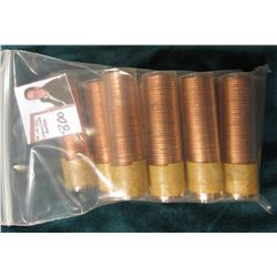 (4) 1958 & (6) 1960 Canada Maple Leaf Cent Rolls, BU in plastic tubes, I haven't opened the rolls, b