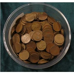 Small Plastic Berry Container full of 1940 era U.S. Wheat Cents. I never counted these so use your o