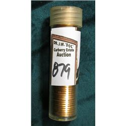 1949 D Original Gem BU Roll of Lincoln Cents in a plastic tube. CDN bid is $90 on my sheet.