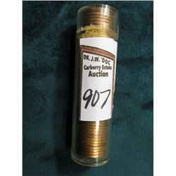 1945 P Original Gem BU Roll of Lincoln Cents in a plastic tube. CDN bid is $65 on my sheet.