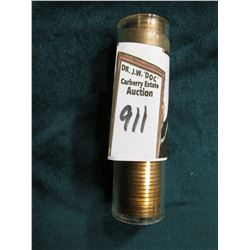 1947 D Original Gem BU Roll of Lincoln Cents in a plastic tube. CDN bid is $30 on my sheet.