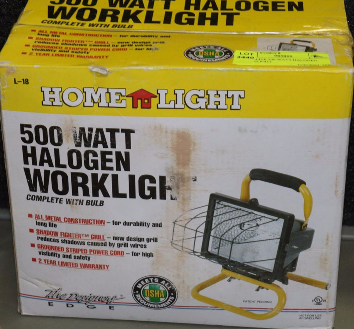 Craftsman 500 Watt Halogen Worklight: HOMELITE 500 WATT HALOGEN WORKLIGHT