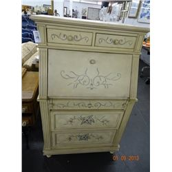 Drop Front Painted Writing Cabinet