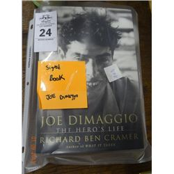 Signed Joe Dimaggio Book