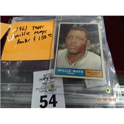 Willie Mays Trading Card