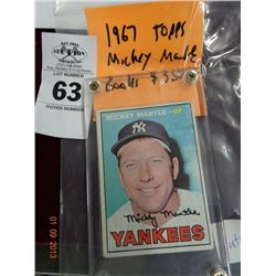 1967 Topps Mickey Mantle Card