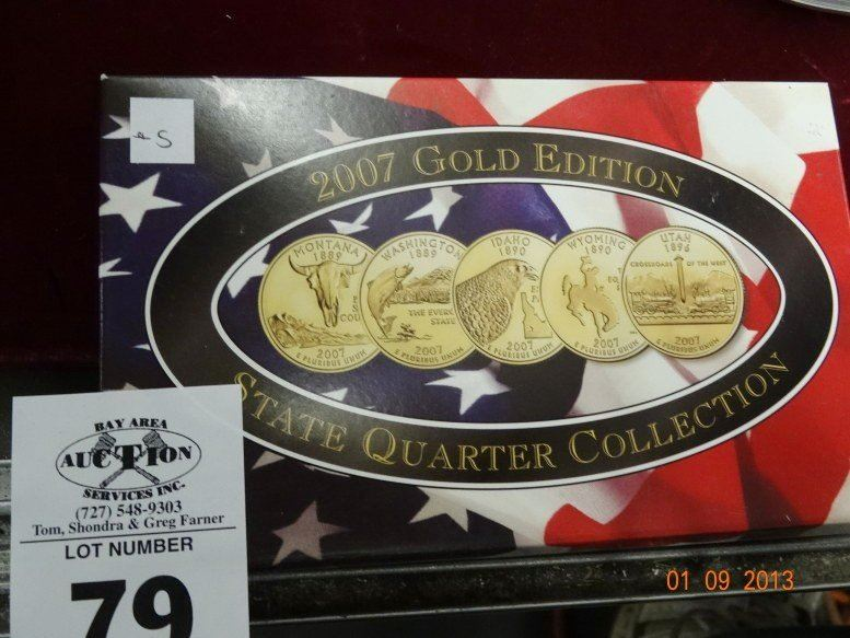 1110. 2000 gold edition state quarter collection.