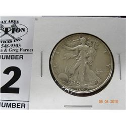 1945 Silver Walking Liberty Half Dollar
