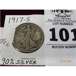 1917-S Walking Liberty Half
