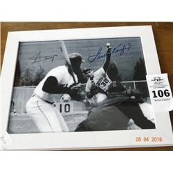 Autographed Koufax/Mays Photo