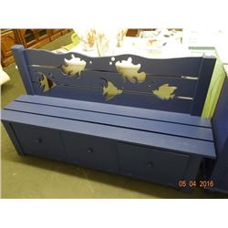 Blue Bench w/Storage