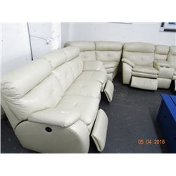 Leather Sectional Sofa - Electric Recliners