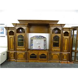 Carved Mahogany Entertainment Center