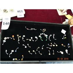 Tray Lot of Belly Button Rings
