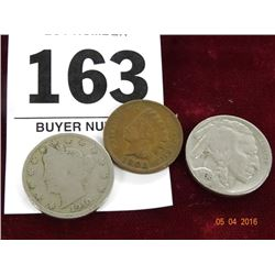 3-Pc. Set of A V-Nickel, Indian & Buffalo
