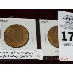 2-Pack of Uncirculated British Large Cents