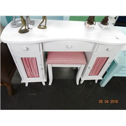 Antique White Vanity w/Bench