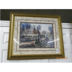 "Guilded Framed Print ""Country House"""