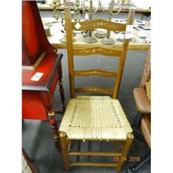 Rush Seat Ladder Back Chair