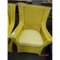 4 Yellow Wicker Chairs - 4 Times the Money